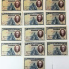 Billetes españoles: 13 BILLETES DE VEINTICINCO PESETAS. ESPAÑA 1928 . Lote 162018654