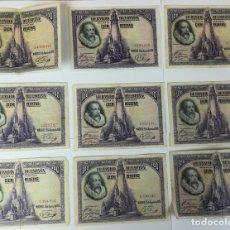 Billetes españoles: 9 BILLETES DE CIEN PESETAS. ESPAÑA 1928. Lote 162020578