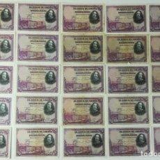 Billetes españoles: 25 BILLETES DE CINCUENTA PESETAS. ESPAÑA 1928 . Lote 162135214