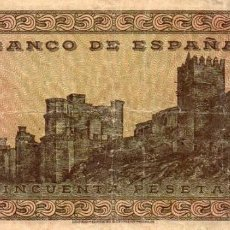 Billetes españoles: BILLETE 50 PESETAS 1938 BURGOS SERIE E. Lote 162285106