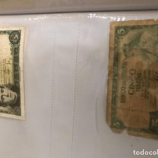Billetes españoles: LOTE 2 BILLETES 5 PESETAS. Lote 162352406