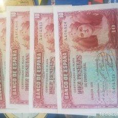 Billetes españoles: BILLETE DIEZ 10 PESETAS 1935 SC SIN SERIE. Lote 162453602