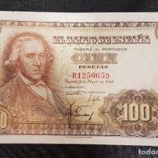 Billetes españoles: BILLETES 100 PESETAS 1946 BAYEU . Lote 162465838