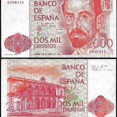 Notas espanholas: 1980 - 2000 PESETAS SIN SERIE - J. RAMÓN JIMENEZ - 1ª EMISIÓN - NUMERO MUY BAJO, PLANCHA.. Lote 162622874