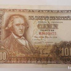 Billetes españoles: 100 PESETAS, MAYO 1948. Lote 162695990