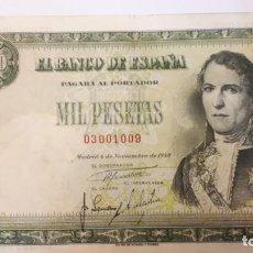 Billetes españoles: 1000 PESETAS NOVIEMBRE 1949. Lote 162775430