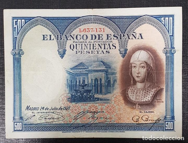 BILLETE 500 PESETAS 1927 SABEL LA CATOLICA (Numismática - Notafilia - Billetes Españoles)