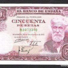 Billetes españoles: 50 PESETAS 1951 SERIE B S/C. Lote 140407890