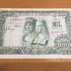 Billetes españoles: BILLETE 1000 PESETAS REYES CATÓLICOS 1957 CON SERIE. Lote 163416724