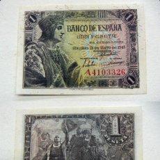 Billetes españoles: BILLETE DE 1 PESETA 1943 FERNANDO EL CATÓLICO SC SIN CIRCULAR SERIE A. Lote 163748474