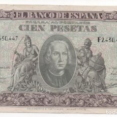 Billetes españoles: BILLETE 100 PESETAS. 1940. Lote 163997302