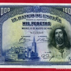 Billetes españoles: BILLETE 1000 PESETAS 1928 , EBC , SIN SERIE , ORIGINAL , T944. Lote 164071422