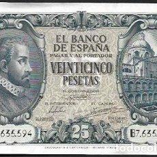 Billetes españoles: 25 PESETAS 1940 SERIE B - HERRERA Y EL ESCORIAL - BILLETE SIN CIRCULAR-. Lote 164178770