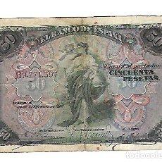 Billetes españoles: BILLETE. 50 PESETAS DE 1906. MADRID. VER DORSO. Lote 164533930