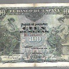 Billetes españoles: BILLETE. 100 PESETAS. 1906. MADRID. VER. Lote 164541330