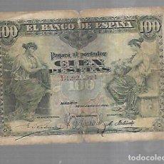 Billetes españoles: BILLETE. 100 PESETAS. 1906. MADRID. VER. Lote 164541726
