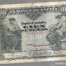 Billetes españoles: BILLETE. 100 PESETAS. 1906. MADRID. VER. Lote 164541866