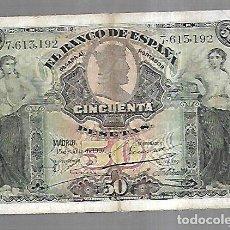 Billetes españoles: BILLETE. 50 PESETAS. BANCO DE ESPAÑA. MADRID. 1907. VER. Lote 164552822