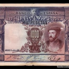 Billetes españoles: ESPAÑA SPAIN 1000 PESETAS CARLOS I 1925 PICK 70C BC F . Lote 164606054