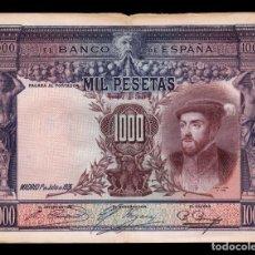 Billetes españoles: ESPAÑA SPAIN 1000 PESETAS CARLOS I 1925 PICK 70C BC F . Lote 164607030