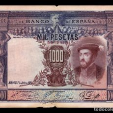 Billetes españoles: ESPAÑA SPAIN 1000 PESETAS CARLOS I 1925 PICK 70C BC F . Lote 164609166