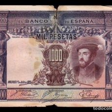 Billetes españoles: ESPAÑA SPAIN 1000 PESETAS CARLOS I 1925 PICK 70C BC F . Lote 164609794