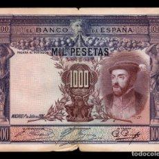 Billetes españoles: ESPAÑA SPAIN 1000 PESETAS CARLOS I 1925 PICK 70C BC F . Lote 164610446