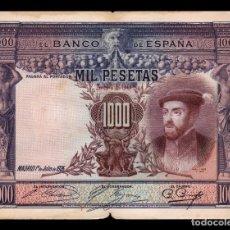 Billetes españoles: ESPAÑA SPAIN 1000 PESETAS CARLOS I 1925 PICK 70C BC F . Lote 164610922