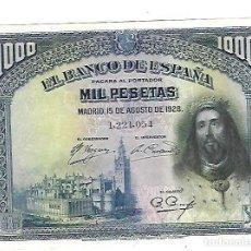 Billetes españoles: BILLETE. BANCO DE ESPAÑA. 1000 PESETAS. MADRID. 1928. PLANCHA. VER FOTOS. Lote 164663926