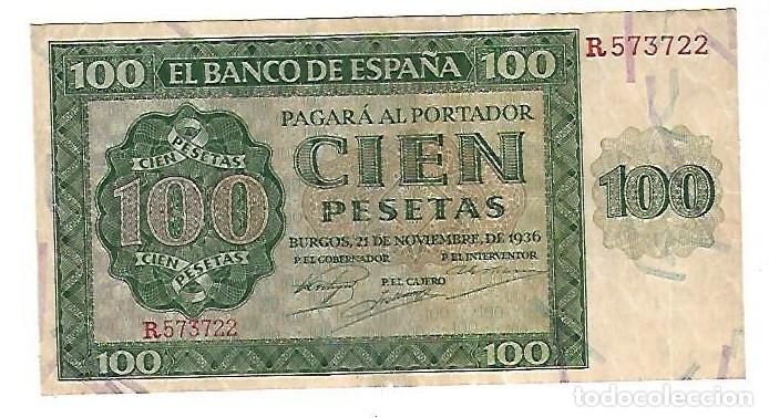 BILLETE. 100 PESETAS. BANCO DE ESPAÑA. MADRID. 1936. VER (Numismática - Notafilia - Billetes Españoles)