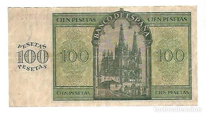 Billetes españoles: BILLETE. 100 PESETAS. BANCO DE ESPAÑA. MADRID. 1936. VER - Foto 2 - 164669874