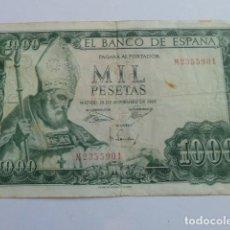 Billetes españoles: BILLETE 1000 PESETAS DE 19 DE NOVIEMBRE DE 1965 SERIE M, REYES CATOLICOS. Lote 165552810