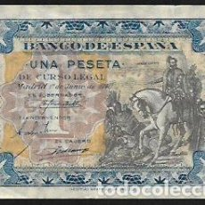 Billetes españoles: BILLETE 1 PESETA JUNIO 1940 SERIE D - HERNAN CORTES - BILLETE EBC-. Lote 166127678