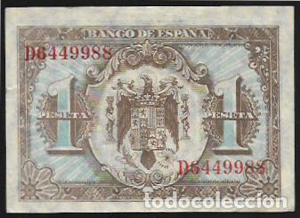 Billetes españoles: BILLETE 1 Peseta JUNIO 1940 SERIE D - HERNAN CORTES - Billete EBC- - Foto 2 - 166127678