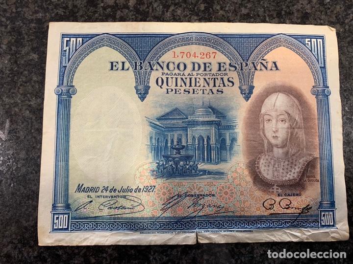 BILLETE 500 PESETAS 1927 , (Numismática - Notafilia - Billetes Españoles)