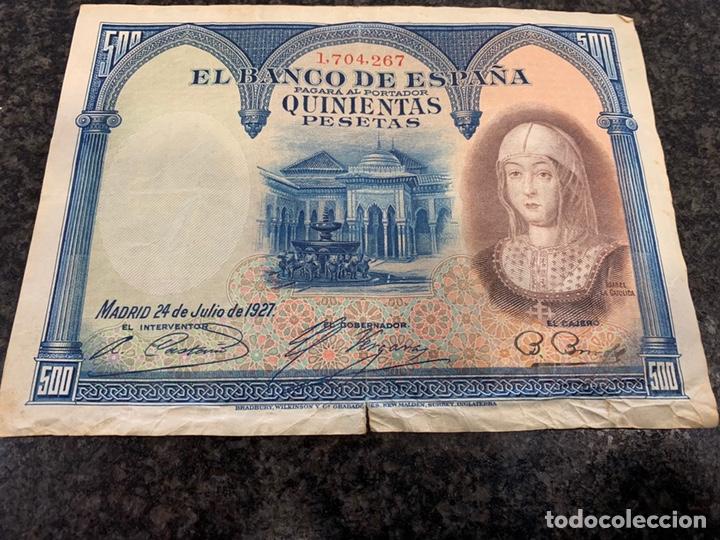 Billetes españoles: BILLETE 500 PESETAS 1927 , - Foto 2 - 166538386
