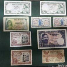 Billetes españoles: LOTE BILLETES PESETA ESPAÑA. Lote 166596688