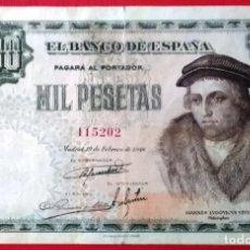 Billetes españoles: ESTADO ESPAÑOL 1000 PESETAS 1946 VIVES. Lote 166604934