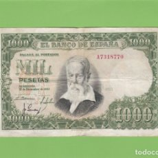 Billetes españoles: BILLETE 1000 PESETAS BANCO ESPAÑA. JOAQUIN SOROLLA. 1951. MIL MBC. LA FIESTA DEL NARANJO. EL QUIJOTE. Lote 166632358