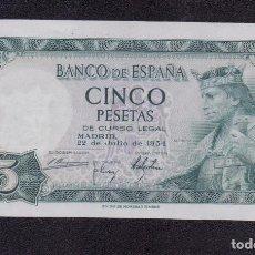 Billetes españoles: BANCO DE ESPAÑA - 5 PESETAS - 1954 - SIN SERIE - SC - SIN CIRCULAR. Lote 166727078