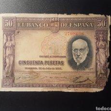 Billetes españoles: ESPAÑA 50 PESETAS 1935 - ENVIO GRATIS A PARTIR DE 35€. Lote 167635336