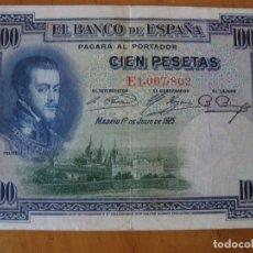 Billetes españoles: BILLETE 100 PESETAS 1925. Lote 167982302