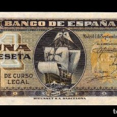 Billetes españoles: ESPAÑA SPAIN 1 PESETA CARABELA 1940 PICK 122 SERIE G. Lote 168613824