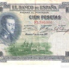 Billetes españoles: BILLETE DE ESPAÑA DE 100 PESETAS DE 1925 CIRCULADO FELIPE II. Lote 169108320