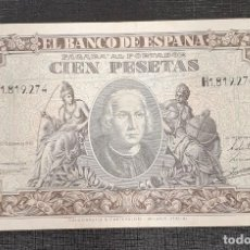 Billetes españoles: BILLETE 100 PESETAS 1940 COLON. Lote 169188096