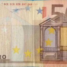 Billetes españoles: 50 EUROS DE LA PRIMERA FIRMA DE DUISEMBERG,PLANCHA P001, LETRA V DE ESPAÑA. Lote 169231328