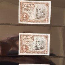 Billetes españoles: 6 BILLETES 1 PTA 1953 CORRELATIVOS Y PLANCHA. Lote 170410908