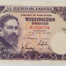 Billetes españoles: 25 PESETAS 1954. ALBENIZ. SC. SERIE M .. Lote 170412440