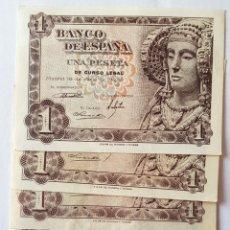 Billetes españoles: LOTE. 5 BILLETES. 1 PTA 1948. D. ELCHE. SERIES. Lote 171136792