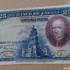 Billetes españoles: BILLETE 25 PESETAS 1928 SERIE C. Lote 171249967
